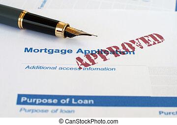 Hypothekenantrag