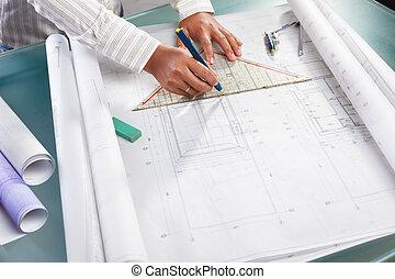 Ich arbeite an Architekturdesign