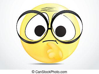 Ich denke an Emoticon