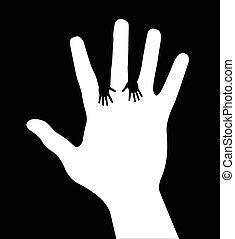 Ich helfe den Händen.