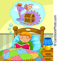 Ich lese im Bett