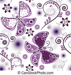 Ich wiederhole, weiß-violettes Muster.