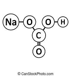 icon., bicarbonate, natrium, molekül