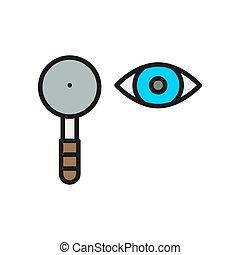 icon., schulterblatt, linie, farbe, wohnung, pr�fung, auge