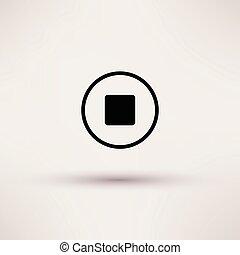 Icon von stoppen Web isoliert Vektorgrafik.