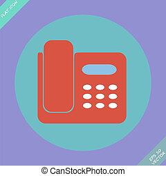 Icon von Telefon isoliert - Vektorgrafik.