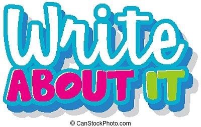 ihm, über, wort, weißes, schreiben, hintergrund, design, schriftart