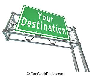Ihre Abschiedsworte auf der grünen Autobahn führen Sie zu Ihrem gewünschten Ort, Anziehung oder Ort, zu dem Sie reisen