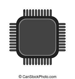 ikone, cpu, einfache