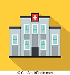 Ikone des medizinischen Zentrums, flacher Stil