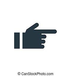 ikone, pfeil, hand
