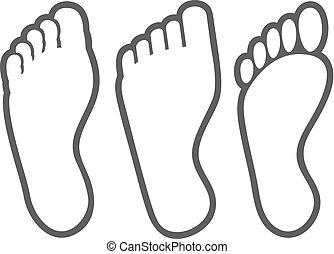 Ikonen der menschlichen Fußspitze.