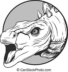 illustartion, dinosaurierer, skizze, vektor, karikatur