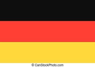 Illustration der Flagge Deutschlands.