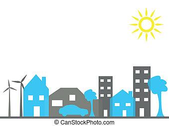 Illustration einer Stadt