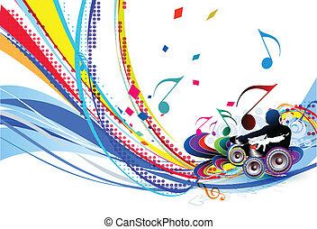 Illustration eines Musikhintergrunds