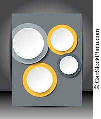 Illustration für Ihre Geschäftspräsentationen. Brochure Design Vorlage, Vektorhintergrund