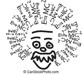 Illustration von Einstein