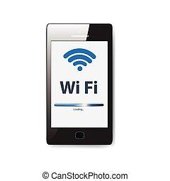 Illustration. Wifi-Verbindung