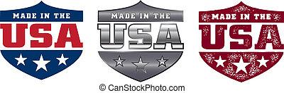 Im US-Schild hergestellt