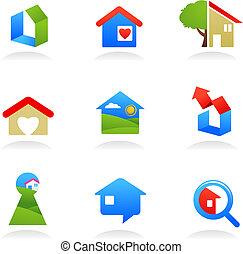 Immobilien-Ikonen / Logos