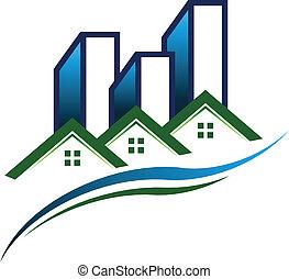 Immobilien-Logovektor