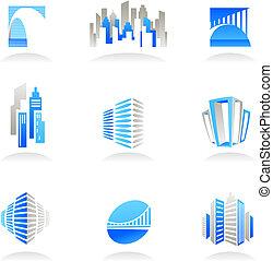 Immobilien und Bau-Ikonen / Logos