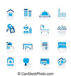 Immobiliengegenstände und Ikonen
