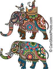Indianer-Elefant