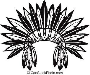 Indianer-Headdress.