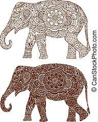 Indische Elefantenmuster.
