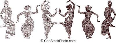 Indische Tänzer.