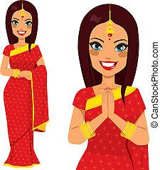 Indische traditionelle Frau.