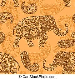 Indischer Elefant nahtlos.