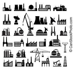 industrie, gebäude, 2