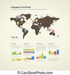 Infografisches Set.