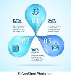 Infographics-Karten-Poster Ad-Konzept Set. Vector