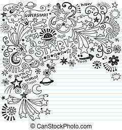 Inky Superstar-Doodles Vektor