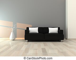 Innen des modernen Raums