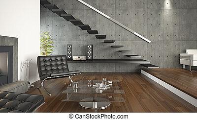 Innenarchitektur des modernen Wohnzimmers