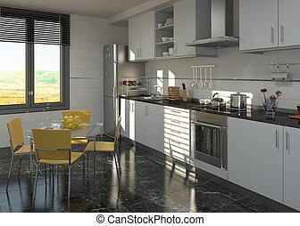 Innenausstattung der Küche