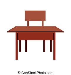 inneneinrichtung, bilden schreibtisch, klassenraum