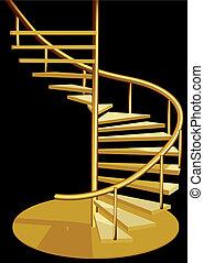 inneneinrichtung, treppe