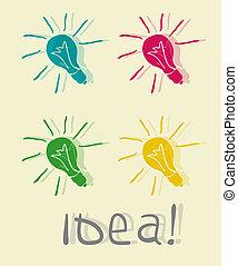 Innovative Lampe. Idea