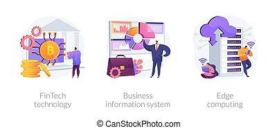 integration, technologie, infrastruktur, illustrations., begriff, vektor, abstrakt