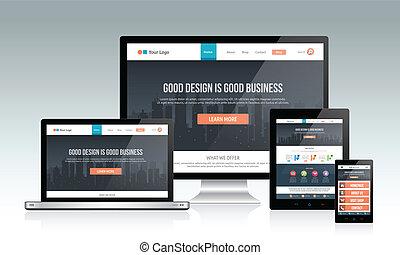 interessiert, website, design