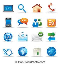 Internet und Webseiten-Ikonen