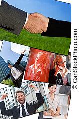 Interracial Business Männer und Frauen arbeiten.
