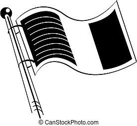 Irland oder irische Flaggenkleberkunst