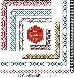 Islamische Ornamente grenzen an Ecken vektor
